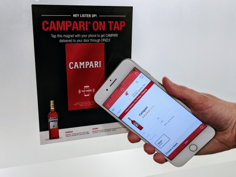Campari America is using Thinfilm's NFC mobile marketing solution to enable consumers to purchase it ...