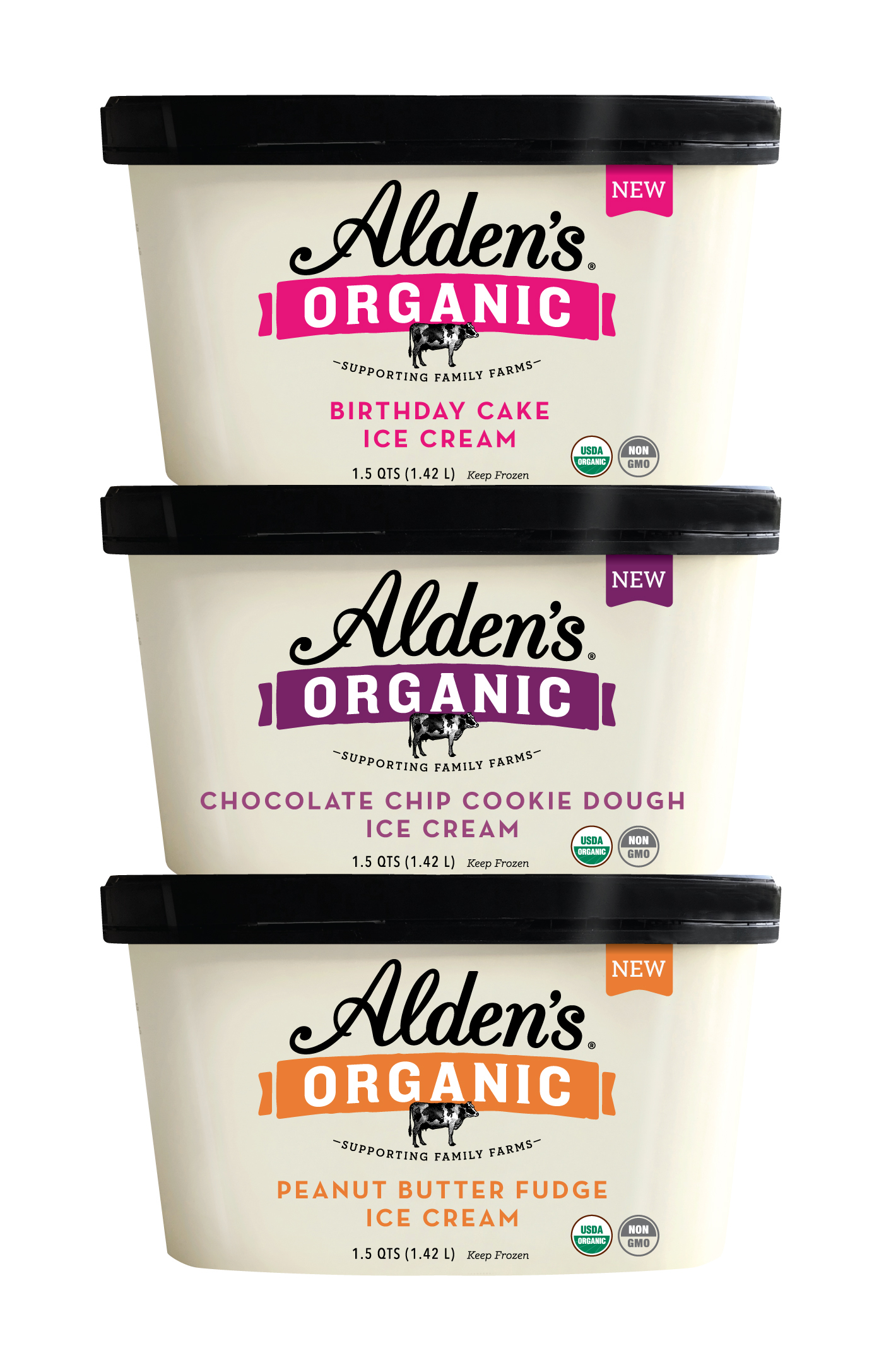 Candy Cake And Cookies Inspire New Flavors From Aldens Organic Ice Cream