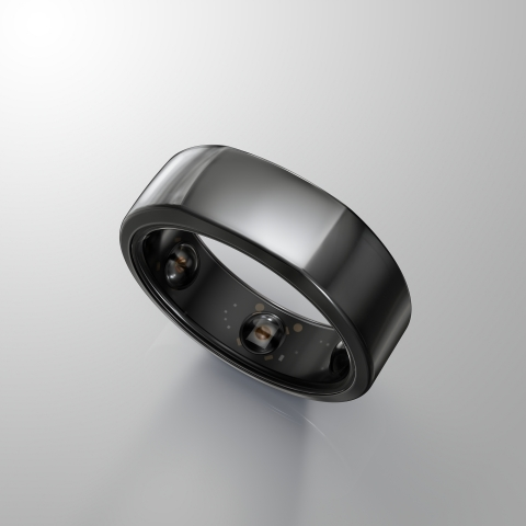 Pictured is Oura Health's new Oura smart ring, which utilizes Cypress Semiconductor's PSoC 6 BLE mic ...