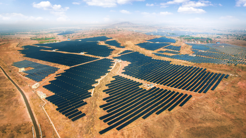Azure Power Solar Power Plant, 100 MW, Rajasthan (Photo: Business Wire)