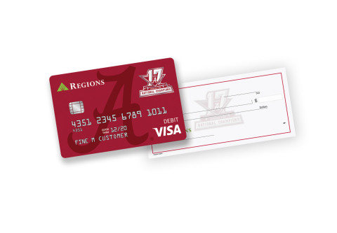Regions Bank Offers 2017 University of Alabama CFP National Championship CheckCard and Checks (Photo: Business Wire)