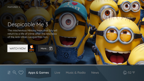 Vewd OS provides an immersive user interface focused on video content (Graphic: Business Wire)