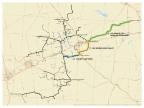 Proposed Route for NuStar's Permian Crude System Expansion Project (Photo: Business Wire)