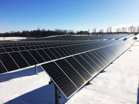 Pictured is the 7 MW Buffalo Solar installation. (Photo: Business Wire)