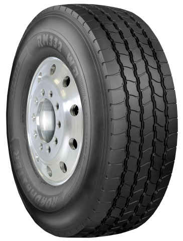 The Roadmaster RM332 WB, a heavy duty, wide base commercial tire, has been named one of the Top 100 New Products of 2017 by Construction Equipment magazine. (Photo: Business Wire)