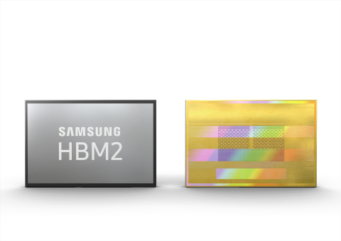New Samsung 8GB HBM2 with a 2.4 Gbps data transfer speed per pin (Photo: Business Wire)