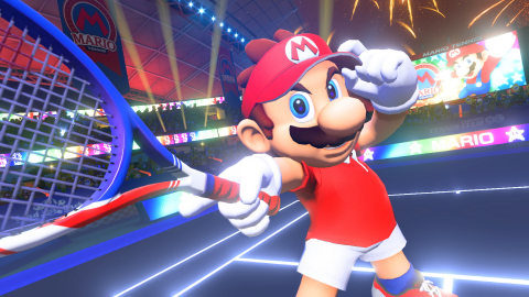 Mario Tennis Aces is bringing a new level of skill and competition to Nintendo Switch. Mario steps onto the court in classy tennis garb for intense rallies against a variety of characters in full-blown tennis battles. (Graphic: Business Wire)