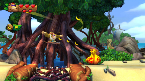 Donkey Kong, Diddy Kong, Dixie Kong and Cranky Kong return for the franchise's debut on Nintendo Switch. Donkey Kong Country: Tropical Freeze includes all the fun and challenge of the original game, plus a new beginner-friendly mode that lets players enjoy this critically acclaimed adventure as groovy surfing simian Funky Kong. (Graphic: Business Wire)