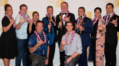 Ward Village® team at The Nationals℠ Awards gala held on January 9 in Orlando, Florida. (Photo: Busi ...