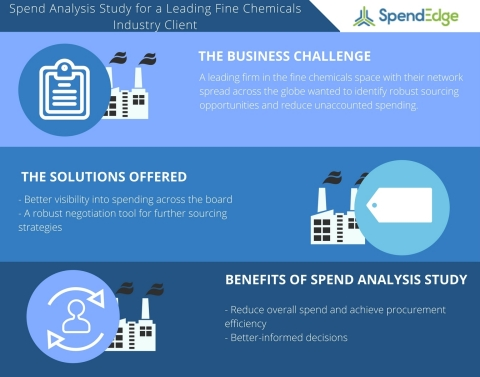 Spend Analysis Study for a Leading Fine Chemicals Industry Client (Graphic: Business Wire)