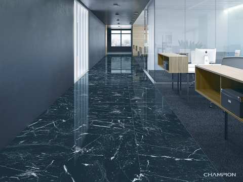 Black Marquina mix white veins with abundant elegant structure. (Photo: Business Wire)