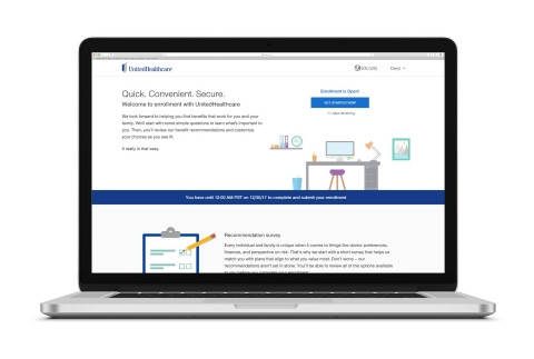 UnitedHealthcare's new Digital Onboarding capability now helps people select an appropriate health plan based on their personal health and financial preferences, using a step-by-step process that helps make plan enrollment simple and straightforward (Courtesy of UnitedHealthcare).