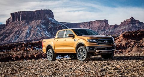 Ford's all-new 2019 Ford Ranger brings midsize truck fans a new choice from America's truck sales leader – one that's engineered Built Ford Tough and packed with driver-assist technologies to make driving easier whether on- or off-road. (Photo: Business Wire)