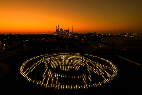 To mark the Year of Zayed, the lanterns assembled by the students were used to pay a special tribute to the late HH Sheikh Zayed with a unique installation in his image. (Photo: AETOSWire)