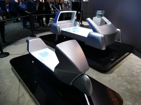 "Mockups of scalable ""ePowertrain"" platform at CES 2018 (Photo: Business Wire)"
