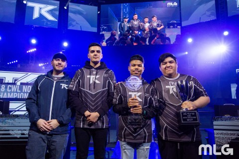 "CWL New Orleans Open Champions Team Kaliber (Dylan ""Theory"" McGee, Lamar ""Accuracy"" Abedi, Kenny ""Ke ..."