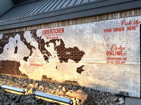 Exterior mural wall highlighting the 21 countries of the Mediterranean. (Photo: Business Wire)