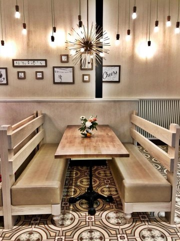 Zoës Kitchen Unveils New Prototype Restaurant In Raleigh NC - Community table restaurant