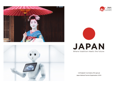 "Japan National Tourism Organization's large-scale inbound tourism campaign ""JAPAN - Where tradition  ..."