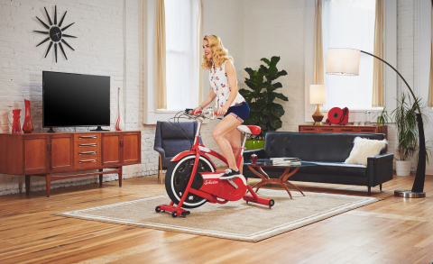 Take a trip down memory lane while burning calories with the whimsically designed Schwinn® Classic Cruiser™ exercise bike. (Photo: Business Wire)