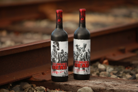 The Walking Dead Wine includes a California Cabernet Sauvignon and Blood Red Blend (Photo: Business Wire)