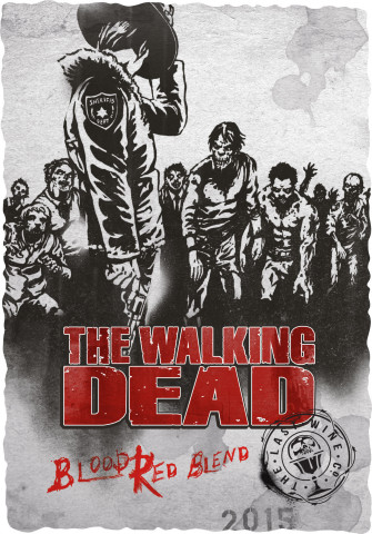 With The Living Wine Label augmented reality app, the Walking Dead label becomes animated (Photo: Business Wire)