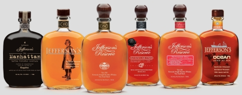 Castle Brands Inc., the maker of Jefferson's Bourbon, has joined The Bardstown Bourbon Company's Collaborative Distilling Program. The two companies will work together to produce custom bourbon and whiskey for the Jefferson's Bourbon portfolio. (Photo: Business Wire)