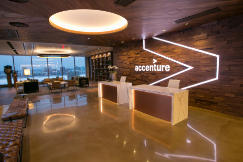 Accenture opens its newest innovation hub – in Boston, where its people and clients co-create solutions for the digital economy (Photo: Business Wire)
