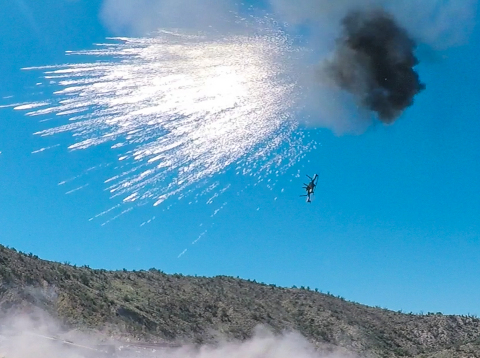 Orbital ATK's has demonstrated that its Bushmaster Chain Guns with Programmable Air Bursting Munition (PABM) can successfully down hostile drones in tactical scenarios. (Photo: Business Wire)