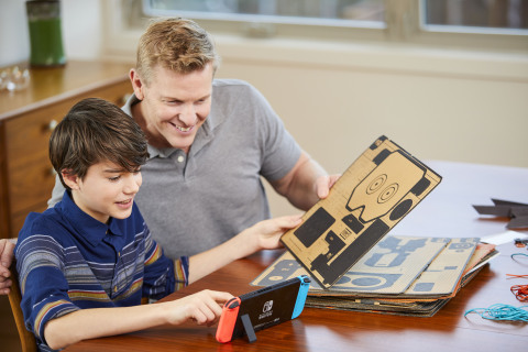 Make, Play, and Discover with Nintendo Labo! Simply have fun making DIY cardboard creations called Toy-Con, bring them to life with the technology of the Nintendo Switch system to play games, and discover the magic behind how Toy-Con works. The Nintendo Labo Robot Kit (pictured) lets you build a Toy-Con Robot suit to wear, control, and turn yourself into an interactive on-screen robot. Nintendo Switch system required (sold separately). (Photo: Business Wire)