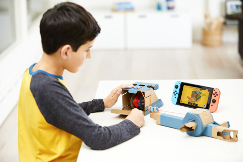 Make, Play, and Discover with Nintendo Labo! Simply have fun making DIY cardboard creations called Toy-Con, bring them to life with the technology of the Nintendo Switch system to play games, and discover the magic behind how Toy-Con works. The Toy-Con Fishing Rod (pictured) is included as part of the Nintendo Labo Variety Kit. Nintendo Switch system required (sold separately). (Photo: Business Wire)