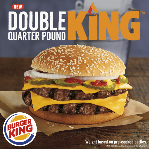 A NEW DOUBLE QUARTER POUND BURGER IS HERE; AND YEAH, IT IS FLAME-GRILLED (Photo: Business Wire)
