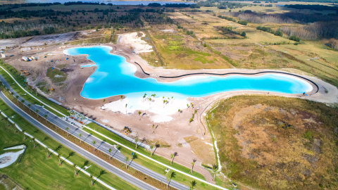 The Epperson residential community in Wesley Chapel features the first Crystal Lagoons® amenity in t ...