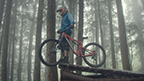 """The """"Tested Extreme: Rainforest"""" video from LP Building Products enlists professional mountain bikers to put LP Legacy sub-flooring to the extreme test."""