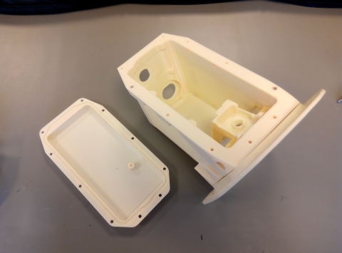 3D printed camera case prototype for the Airbus A380, produced on Stratasys' Fortus 450mc Production 3D Printer in ULTEM 9085 material (Photo: Business Wire)