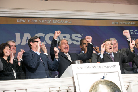 Jacobs (JEC) ringing the NYSE Closing Bell®. (Photo: Business Wire)