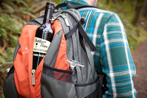 Naked Winery uses lightweight PET bottles from Amcor for its Outdoor Vino brand. (Photo: Naked Winer ...