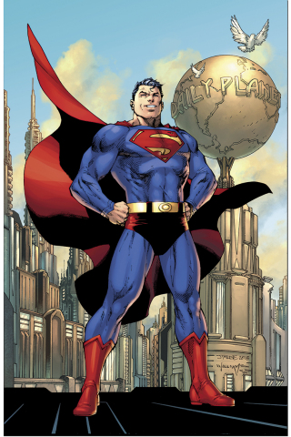 Cover, ACTION COMICS #1000. Pencils by Jim Lee, inks by Scott Williams, colors by Alex Sinclair.