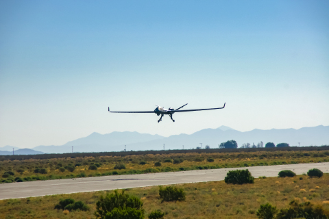 The SATCOM-only Launch and Recovery Element (LRE) operations capped another great year for MQ-9B development, which included an endurance flight of more than 48 hours in May 2017 and the first FAA-approved flight for a RPA in non-segregated airspace in August 2017. (Photo: Business Wire)