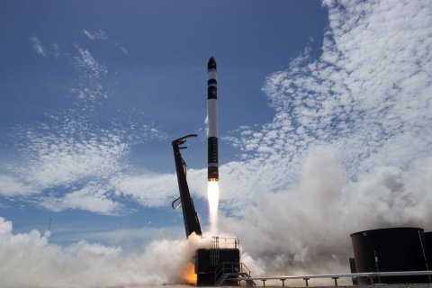 Rocket Lab's Electron Still Testing launch vehicle lifts off from Launch Complex 1. (Photo: Business ...