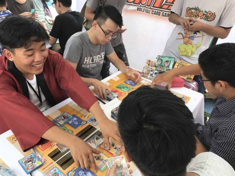 """A shot from Instruction event of """"HAIKYU!! VOLLEYBALL CARD GAME!!"""" at Book Fair 2017 in Hanoi Vietnam in September 2017 (Photo: Business Wire)"""