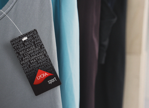 New consumer hangtag for LYCRA® SPORT technology. (Photo: Business Wire)
