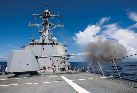 BAE Systems will deliver four additional Mk 45 Naval Guns under a new $46.8 million contract from the U.S. Navy. (Photo: U.S. Navy)