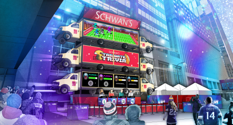 Schwan's will be delivering big smiles throughout the 10-day Super Bowl LIVE events by combining festival goers' love of football, food and fun. (Photo: Schwan's Home Service, Inc.)