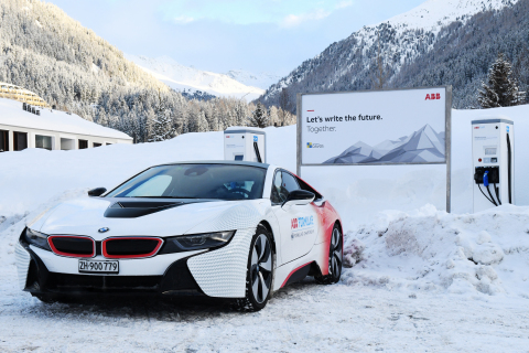 ABB EV charging station in Davos (Photo: Business Wire)