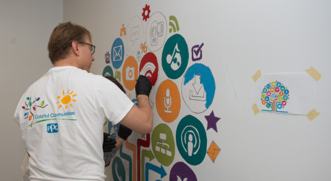 PPG completes a COLORFUL COMMUNITIES project at Santa Clara Elementary School in Miami (Photo: Busin ...
