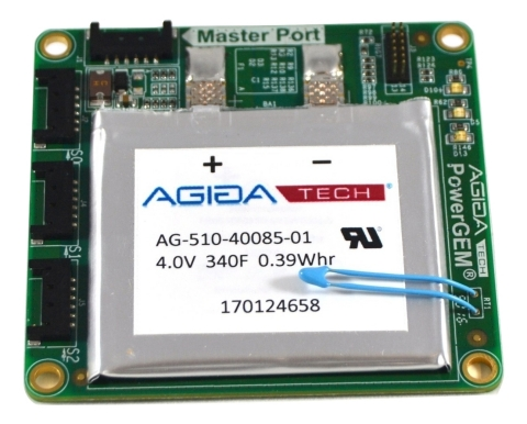 Pictured is the new Amber4X family of AgigA Tech's PowerGEM supercapacitor modules, which can support backup power for multiple Non-Volatile DIMMs. (Photo: Business Wire)