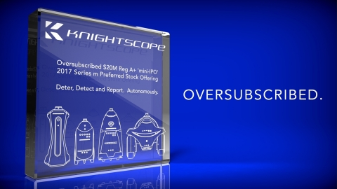 Knightscope's 4th round of financing was significantly oversubscribed. (Graphic: Business Wire)