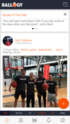 Ballogy users connect with coaches, schools, and teammates to share their basketball highlights and elevate their profile. (Photo: Business Wire)
