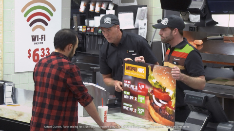 "The BURGER KING® Brand Takes on Net Neutrality Via ""WHOPPER® Neutrality"" Social Experiment (Photo: Business Wire)"